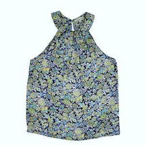 Adrienne Vittadini Floral Halter Top size Small